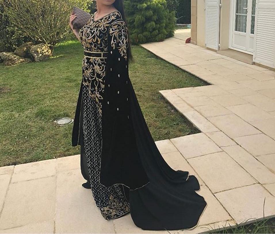 Caftan marocain noir à vendre pas cher