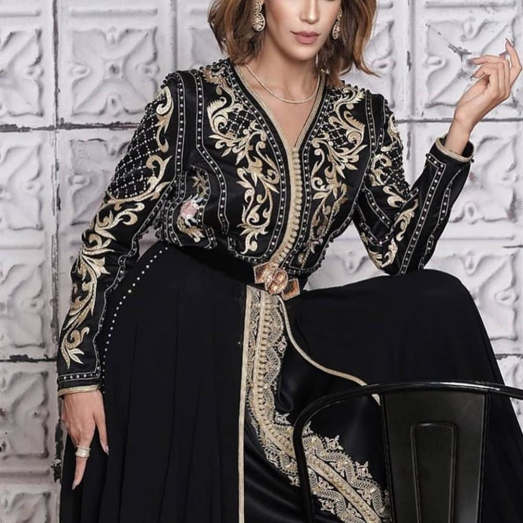 Caftan marocain noir 2019 design moderne