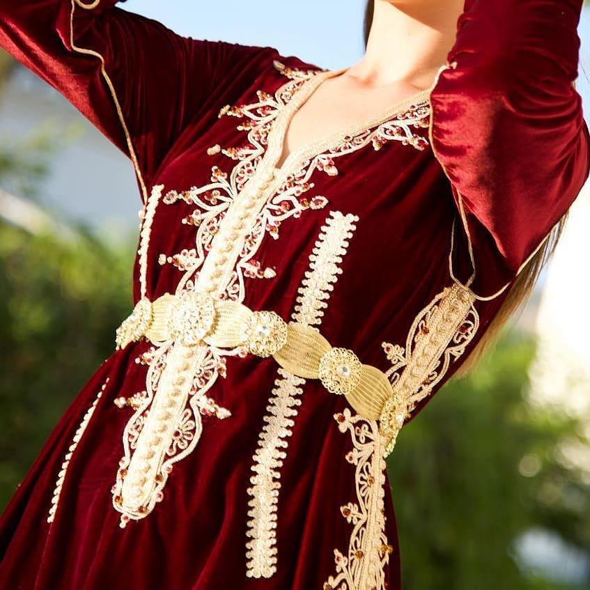 Caftan marocain rouge 2019 pour mariage