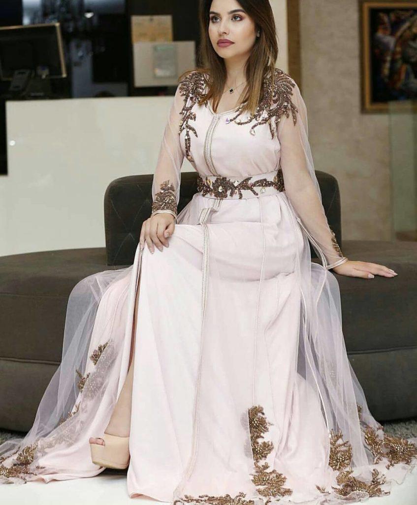 robe caftan moderne blanche 2019