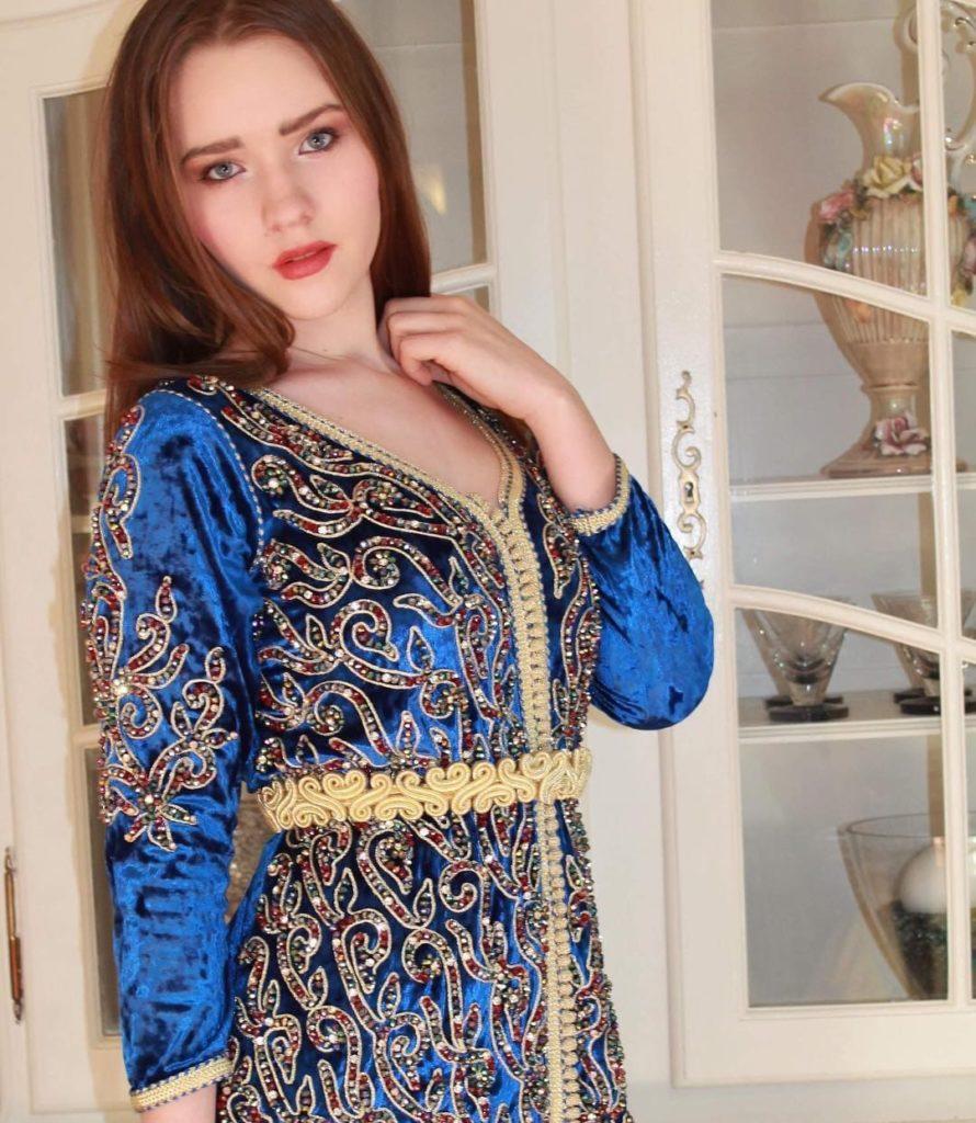 Caftan traditionnel haute couture