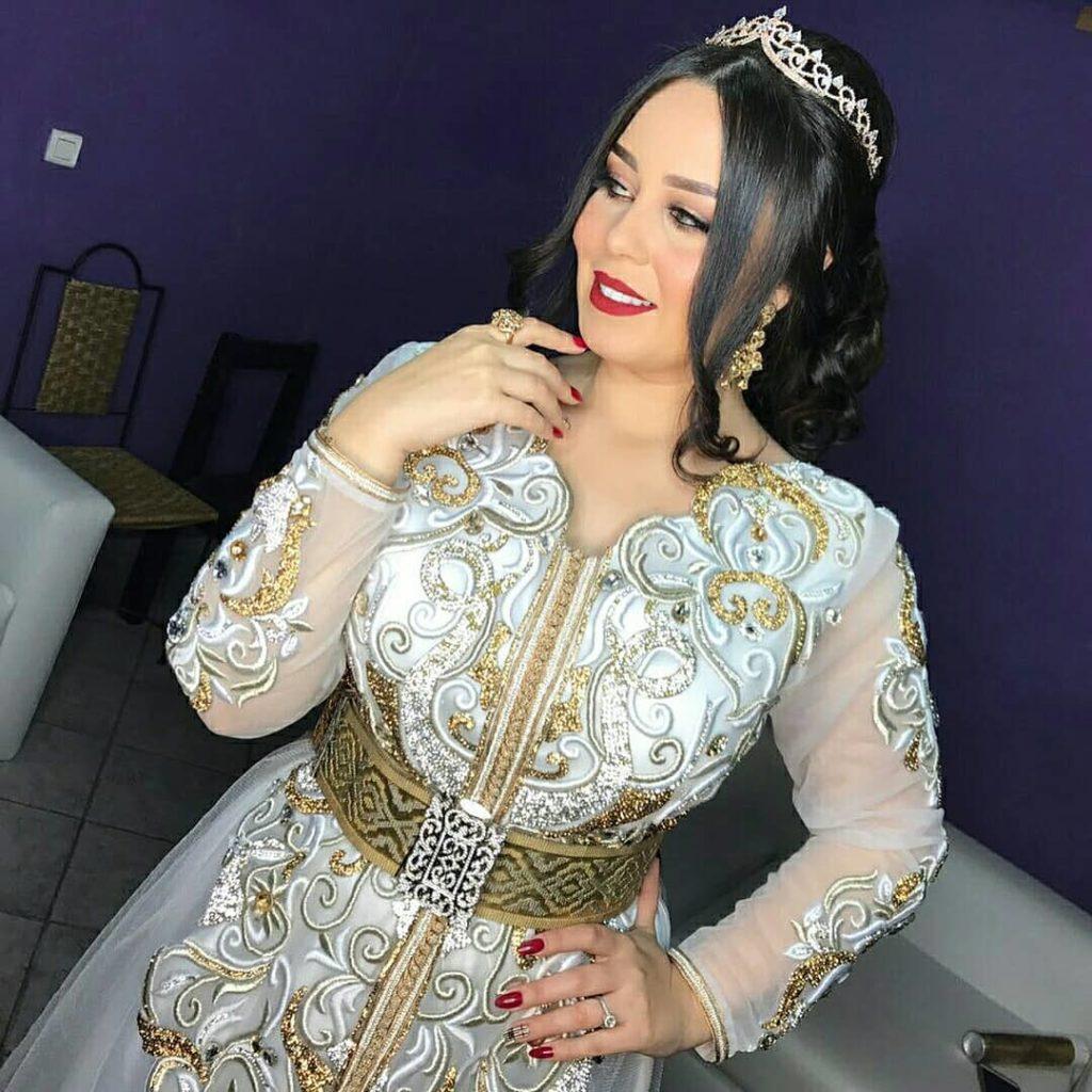 Caftan de mariée 2020 blanc pas cher