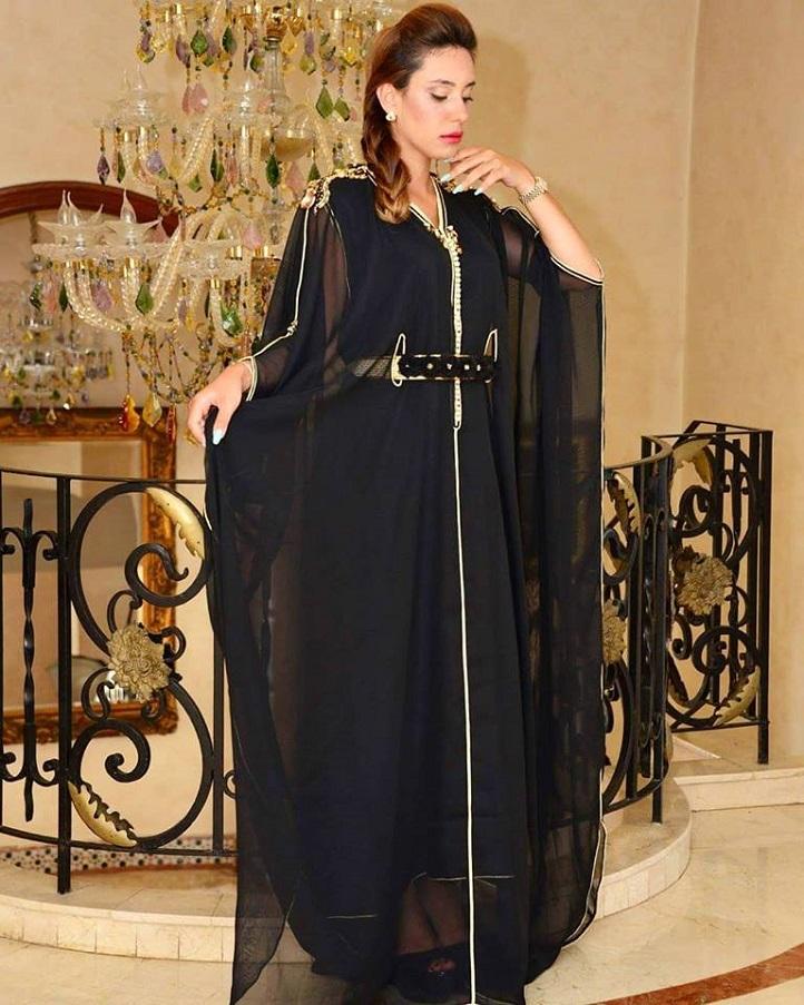 Caftan marocain 2021 simple Noir