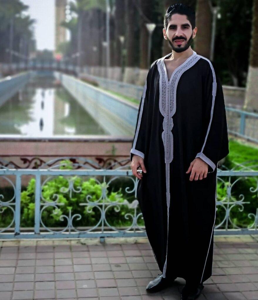 Gandoura marocaine 2021 pour homme Noir