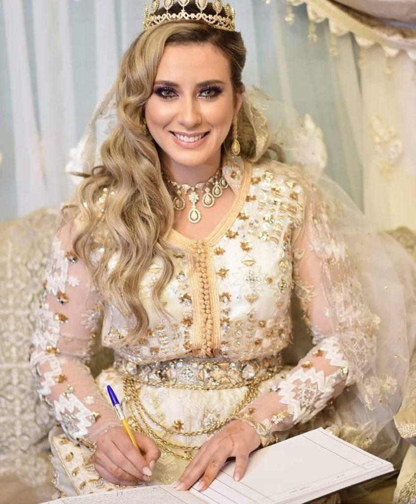 Caftan blanc pour mariage