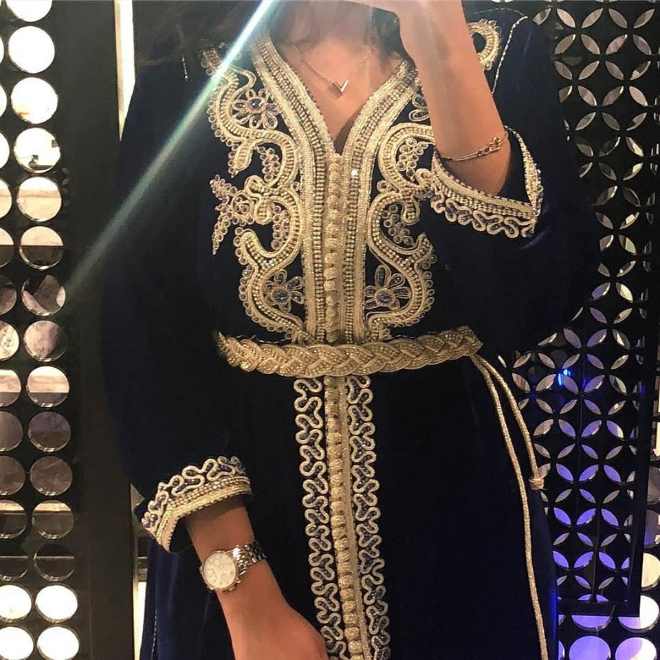 Caftan marocain velours à louer pas cher