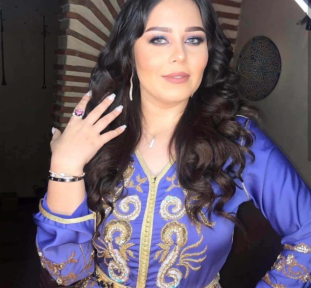 Caftan marocain moderne bleu