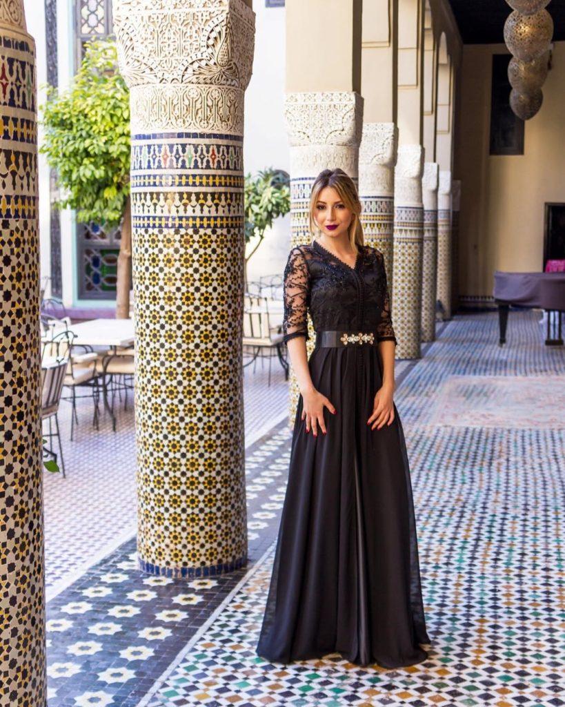 Caftan marocain Noir pour mariage