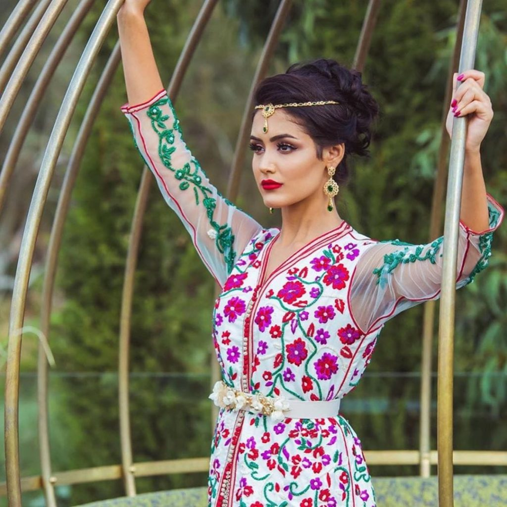 Caftan marocain moderne pour mariage