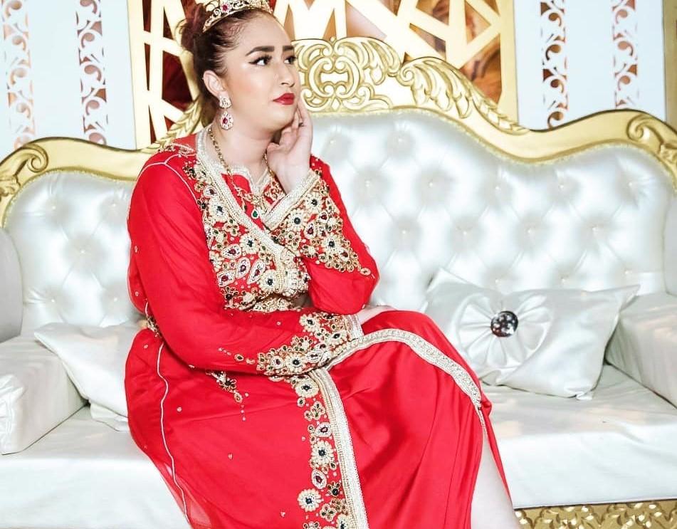 Caftan de mariage rouge